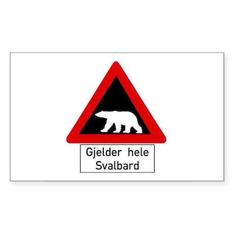 Polar Bear, Svalbard - Norway Sticker (Rectangular