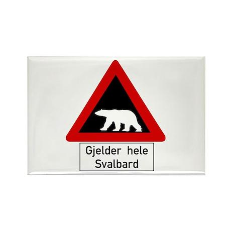 Polar Bear, Svalbard - Norway Rectangle Magnet (10