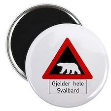 """Polar Bear, Svalbard - Norway 2.25"""" Magnet (10 pac"""