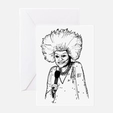 Phyllis Diller Illustration Greeting Card