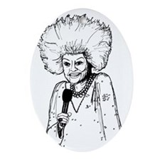Phyllis Diller Illustration Oval Ornament