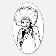 Phyllis Diller Illustration Sticker (Oval)