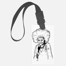 Phyllis Diller Illustration Luggage Tag