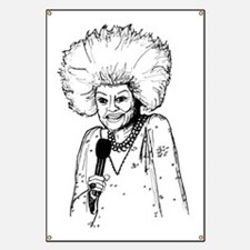 Phyllis Diller Illustration Banner