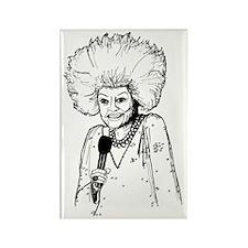 Phyllis Diller Illustration Rectangle Magnet