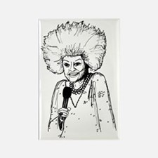 Phyllis Diller Illustration Rectangle Magnet