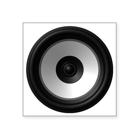 "BASS (Speaker) Square Sticker 3"" x 3"" by Admin_CP619760"