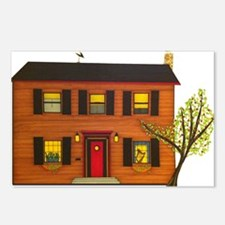 Drawn Home: Brown House w Postcards (Package of 8)