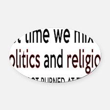 politicsrectangle Oval Car Magnet