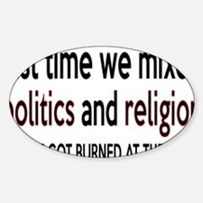 politicsrectangle Decal