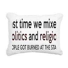 politicsrectangle Rectangular Canvas Pillow