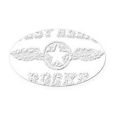 WEST ALLIS ROCKS Oval Car Magnet