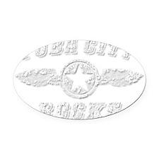 YUBA CITY ROCKS Oval Car Magnet