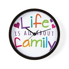 Life and Family Wall Clock