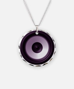 BASS (Speaker) Necklace Circle Charm