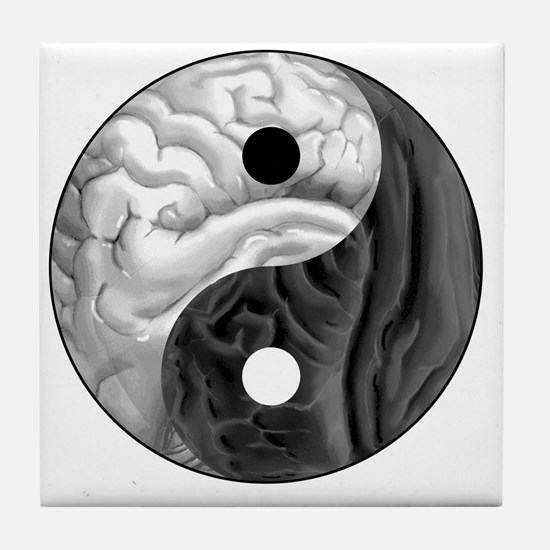 Yin Yang Brain Tile Coaster