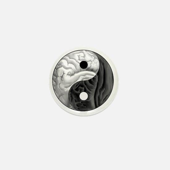 Yin Yang Brain Mini Button