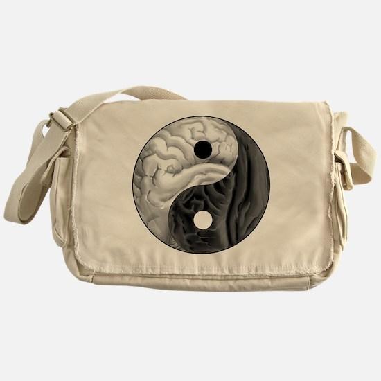 Yin Yang Brain Messenger Bag