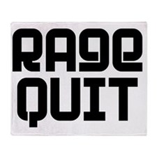 RAGE QUIT! Throw Blanket