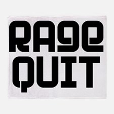 RAGE QUIT! Throw Blanket