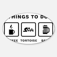 Tortoise-Lover-ABH1 Sticker (Oval)