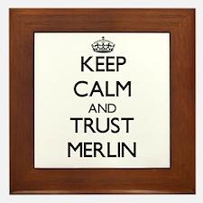 Keep Calm and TRUST Merlin Framed Tile