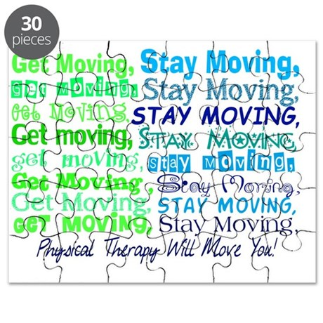 physical therapy will move you BLUE Puzzle