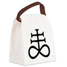 Satanic Cross Canvas Lunch Bag