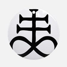 Satanic Cross Round Ornament
