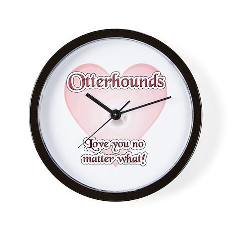 Otterhound Love U Wall Clock