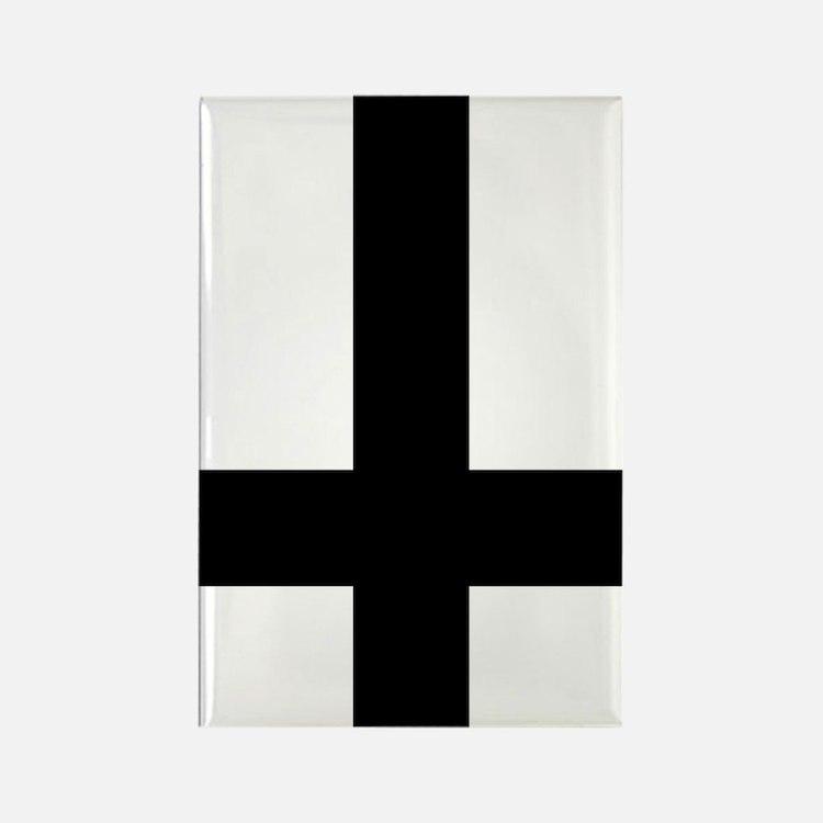 Upside Down Cross Rectangle Magnet