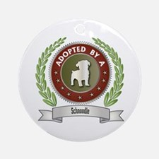 Schnoodle Adopted Ornament (Round)