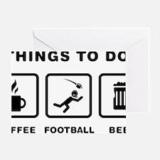 American-Football-ABH1 Greeting Card