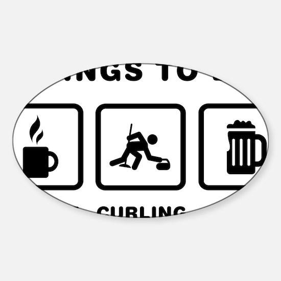 Curling-ABH1 Sticker (Oval)