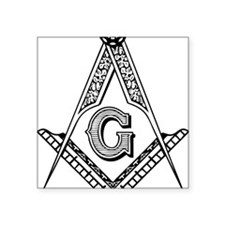 "Masonic Square Sticker 3"" x 3"""