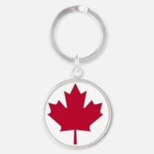 CANADA FLAG Round Keychain