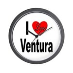 I Love Ventura Wall Clock