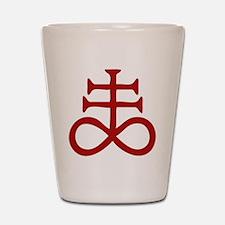 Satanic Cross Shot Glass