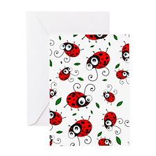 Cute Ladybug pattern Greeting Card