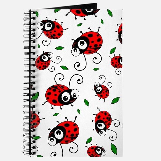 Cute Ladybug pattern Journal