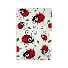 Cute Ladybug pattern Rectangle Magnet