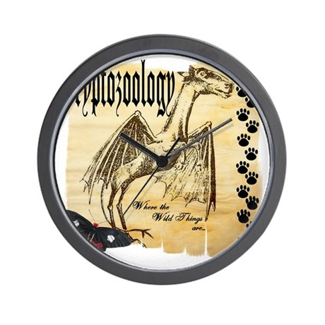 Cryptozoology Wild Things Wall Clock
