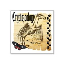 "Cryptozoology Wild Things Square Sticker 3"" x 3"""