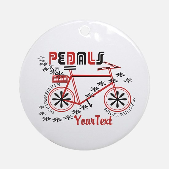 Customize Pedals Cyclist Round Ornament