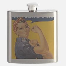 Rosie The Riverter Flask
