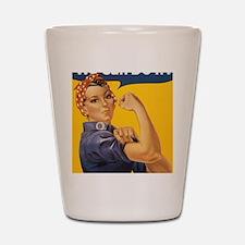 Rosie The Riverter Shot Glass