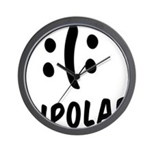 Bipolar Emoticon Wall Clock