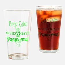 Keep Calm Paranormal Investigator Drinking Glass
