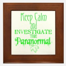 Keep Calm Paranormal Investigator Framed Tile