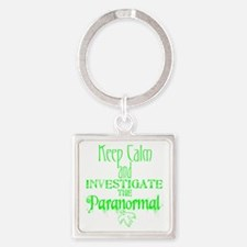 Keep Calm Paranormal Investigator Square Keychain